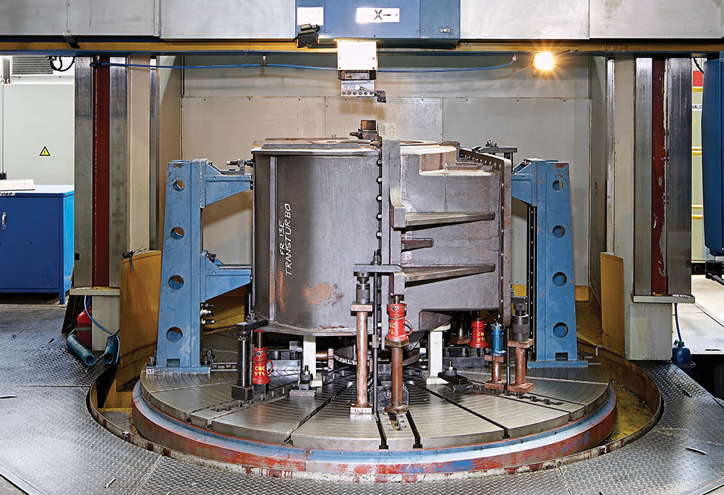 CNC vertical turret lathe for large casings